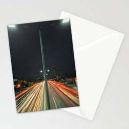 Car Lights Stationery Cards