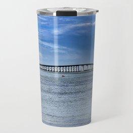Bridge to sand and sea Travel Mug