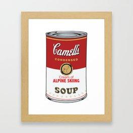 Camell's Soup CREAM OF ALPINE SKIING Pop Art Framed Art Print