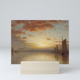 Sanford Robinson Gifford - Sunset over New York Bay Mini Art Print