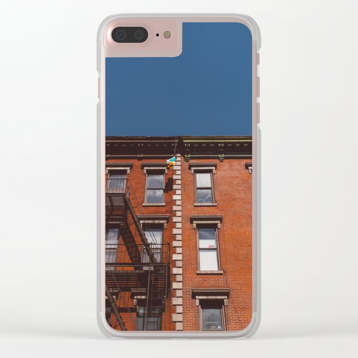 New York Balloons Clear iPhone Case