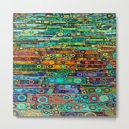 :: Technicolor Walkway :: Metal Print