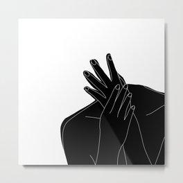 Black and white figure - Emmy Metal Print