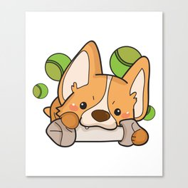 Funny Corgi Dog Gifts Canvas Print