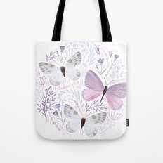 Purple Butterflies Tote Bag