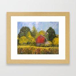 Family Farm Framed Art Print