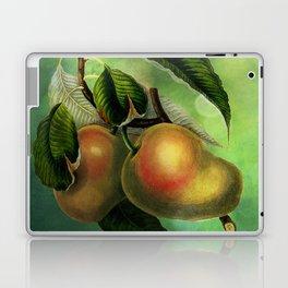 Bombay Mangos with Butterfly, Vintage Botanical Illustration Collage Art Laptop & iPad Skin