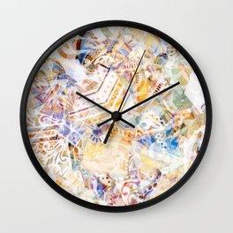 Mosaic of Barcelona XI Wall Clock