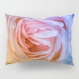Pink Rose Ruffle Rainbow Pillow Sham