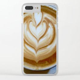 Saturday Morning Coffee Shops Clear iPhone Case