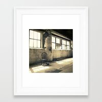 old school Framed Art Prints featuring Old School by Finch & Maple