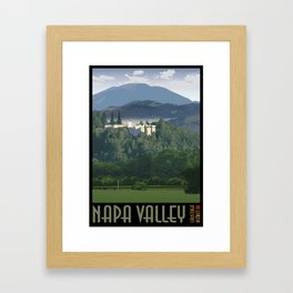 Napa Valley - Sterling Vineyards, Calistoga District Framed Art Print