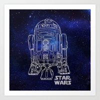 r2d2 Art Prints featuring r 2 d 2 by Vickn