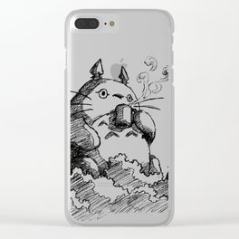 Ghibli Coffee Clear iPhone Case