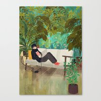 jungle Canvas Prints featuring jungle by Lara Paulussen
