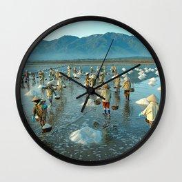 Hon Khoi salt fields - Viet Nam Wall Clock