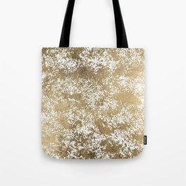 Elegant chic faux gold foil paint splatters pattern Tote Bag