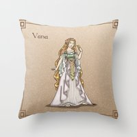 valar morghulis Throw Pillows featuring Vana by wolfanita