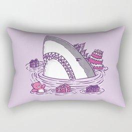 Birthday Princess Shark Rectangular Pillow