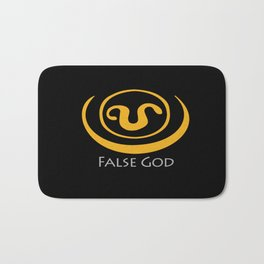 False God. Inspired by Stargate SG1 - The symbol of Apophis as worn by Teal'c Bath Mat