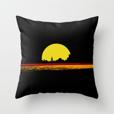 minimal sunset Throw Pillow