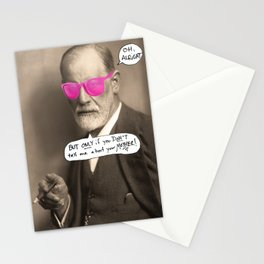 Sigmund Freud does not want to hear about your mother Stationery Cards