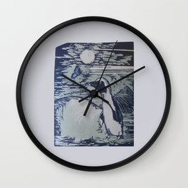 The Penguin and the Butterfly Wall Clock
