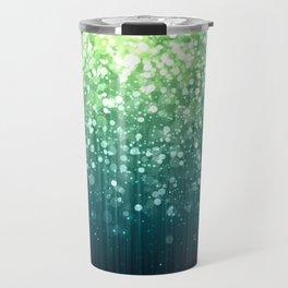 Spring Teal Green Sparkles Travel Mug