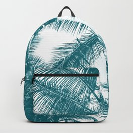 Palm Trees Teal Backpack