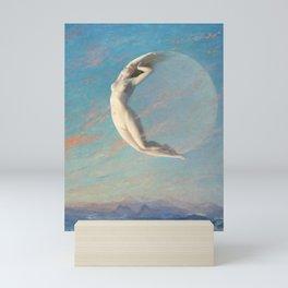 Selene By Albert Aublet 1880 Woman And Moon Mini Art Print