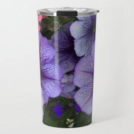 Purple Petunias Travel Mug
