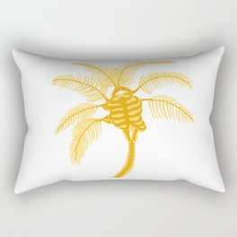 Skeleton Palm Tree White Rectangular Pillow