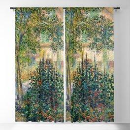 "Claude Monet ""Camille Monet in the garden at Argenteuil"" Blackout Curtain"