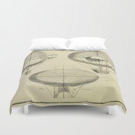 Mathieu's Airship Project Duvet Cover