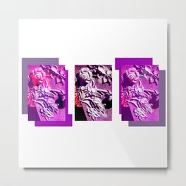 Purple and Pink Concrete Roses Grave Photo at Historic Maple Hill Cemetery in Huntsville Alabama  Metal Print