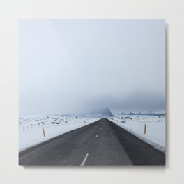 Lonely Road through Iceland Metal Print