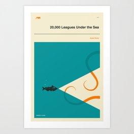 20,000 Leagues Under the Sea Art Print