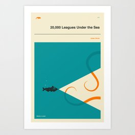 20,000 Leagues Under the Sea Art Print