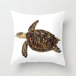 Hawksbill sea turtle (Eretmochelys imbricata) Throw Pillow