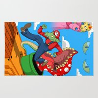 mario Area & Throw Rugs featuring Mario? by ShelbyDenham