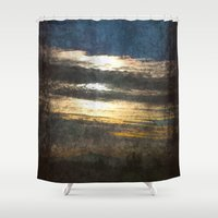 all seeing eye Shower Curtains featuring All-Seeing Eye by GLR67