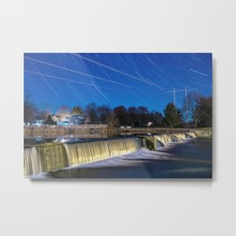 Star Trails Over Wehr's Dam Metal Print