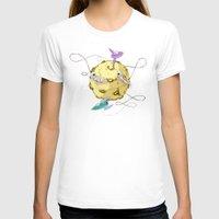potato T-shirts featuring Moon Potato by skarmanami