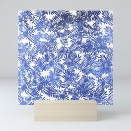 Rowan/ Mountain Ash - Blue metallic on white Mini Art Print