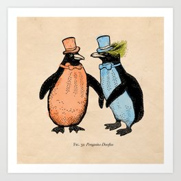Penguins Doofus Art Print