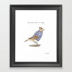 Zig zags were in vogue Framed Art Print