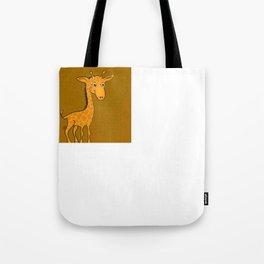 Giraffe - Sepia Brown Tote Bag