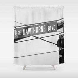 Hawthorn BLVD Portland Shower Curtain
