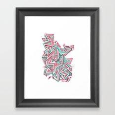 Geo Run Framed Art Print