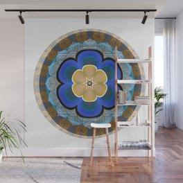 Hyperspace Portal Innerstanding Meditation Mandala Boho Floral Trip Wall Mural